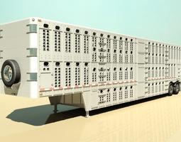 Livestock Semi Trailer 3D Model