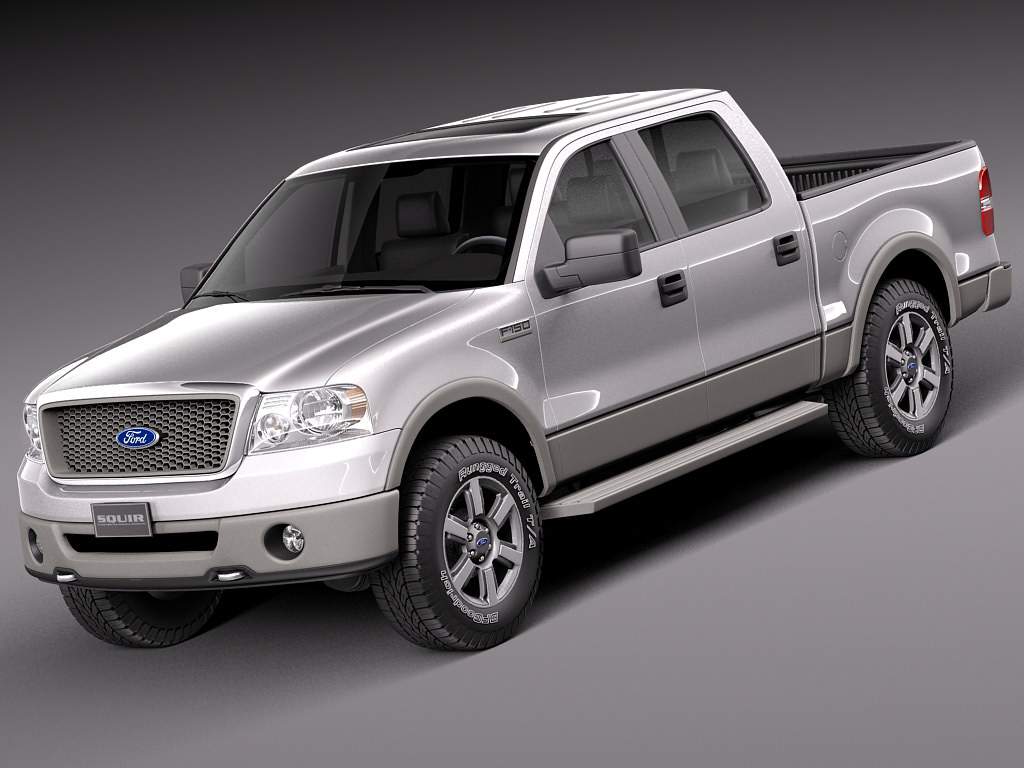 ford f 150 crew cab 2004 2007 3d model max obj 3ds fbx c4d lwo lw lws. Black Bedroom Furniture Sets. Home Design Ideas