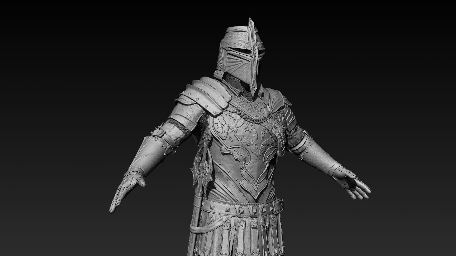 Knight Zbrush