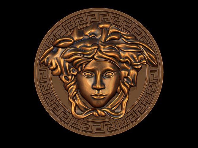versace  logo 3d model obj dxf stl blend 3dm ige igs iges 1