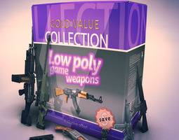 Low Poly Game Weapon Collection 3D Model