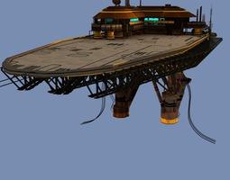 Landing Platform Scifi 3D Model