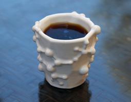 Caffeine Molecule Espresso Cup 3D Model
