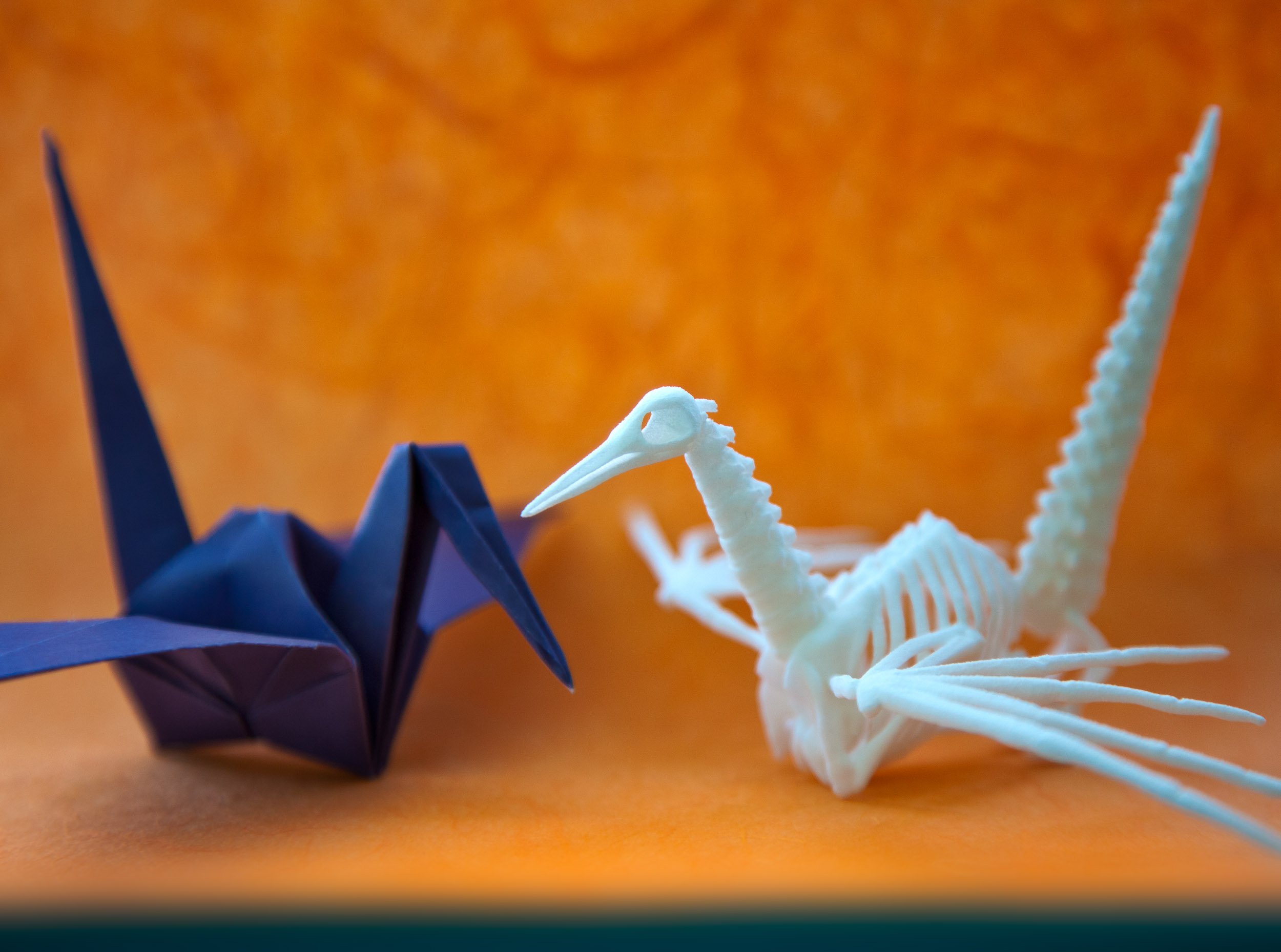 Origami Crane Skeleton 3D Model 3D printable .obj ... - photo#34