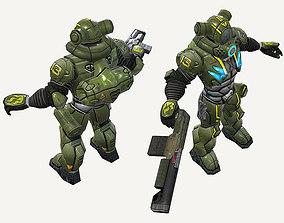Human Trooper 3D asset