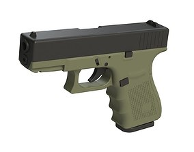 3D printable model Glock 19 1-1 Scale guns