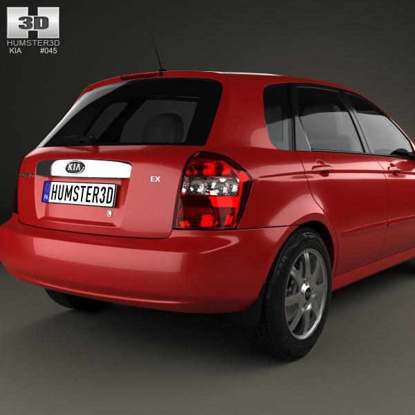 Kia Cerato Spectra Hatchback 2004 3D Model .max .obj .3ds
