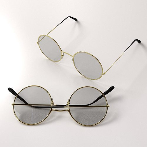 classic eyeglasses 3d model 3ds fbx blend dae 1