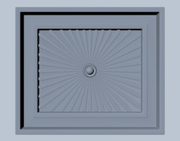 Square Wood Detail 3D