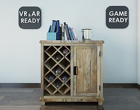 3D model Bar Cabinet VR AR Game Ready