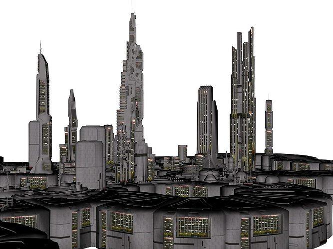 orion colonial city 3d model obj mtl 1