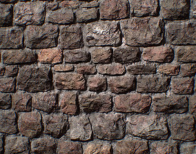 3D asset Stone wall - PBR