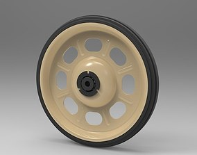3D model Wheel from barrow