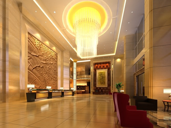 Foyer Lighting Jobs : D model foyer with luxury chandelier cgtrader