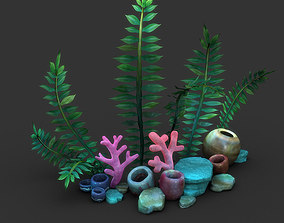 Cartoon Seaweed Set 3D