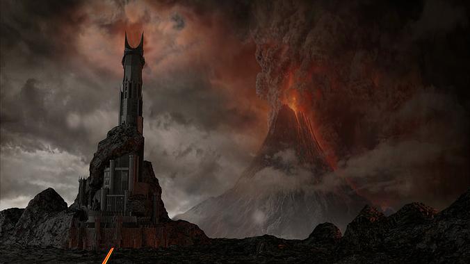 the dark tower of barad-dur 3d model obj mtl 3ds fbx stl blend dae 1