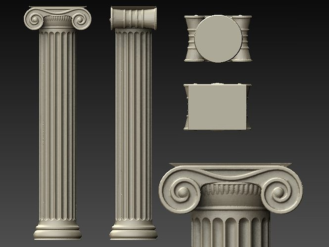 ionic columns and dentil - photo #44