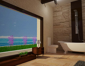 Modern bathroom interior desgin 3D