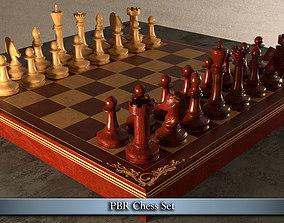 PBR Chess Set 3D asset