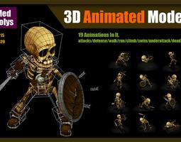 3D asset Skeleton Warrior