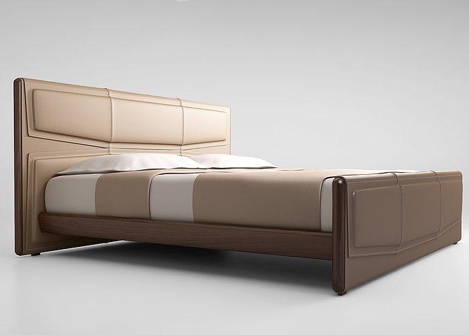 giorgetti pochette bed 3d model max obj 1