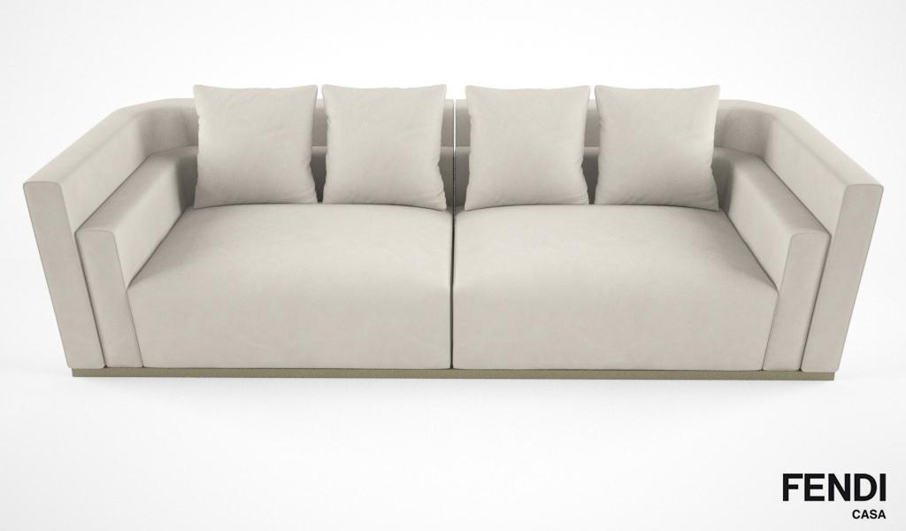 Fendi Casa Borromini Sofa Model Max Obj Mtl Fbx 5