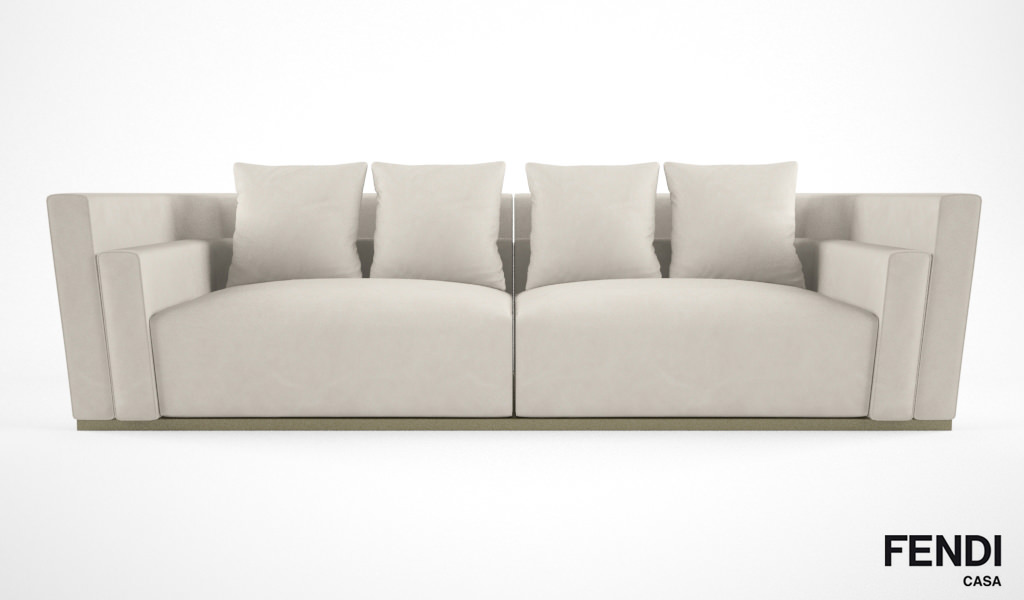 Fendi Casa Borromini sofa 3D Model x obj fbx