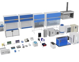 3D model Laboratory Equimnets