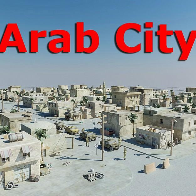 Arab City 01   3D model