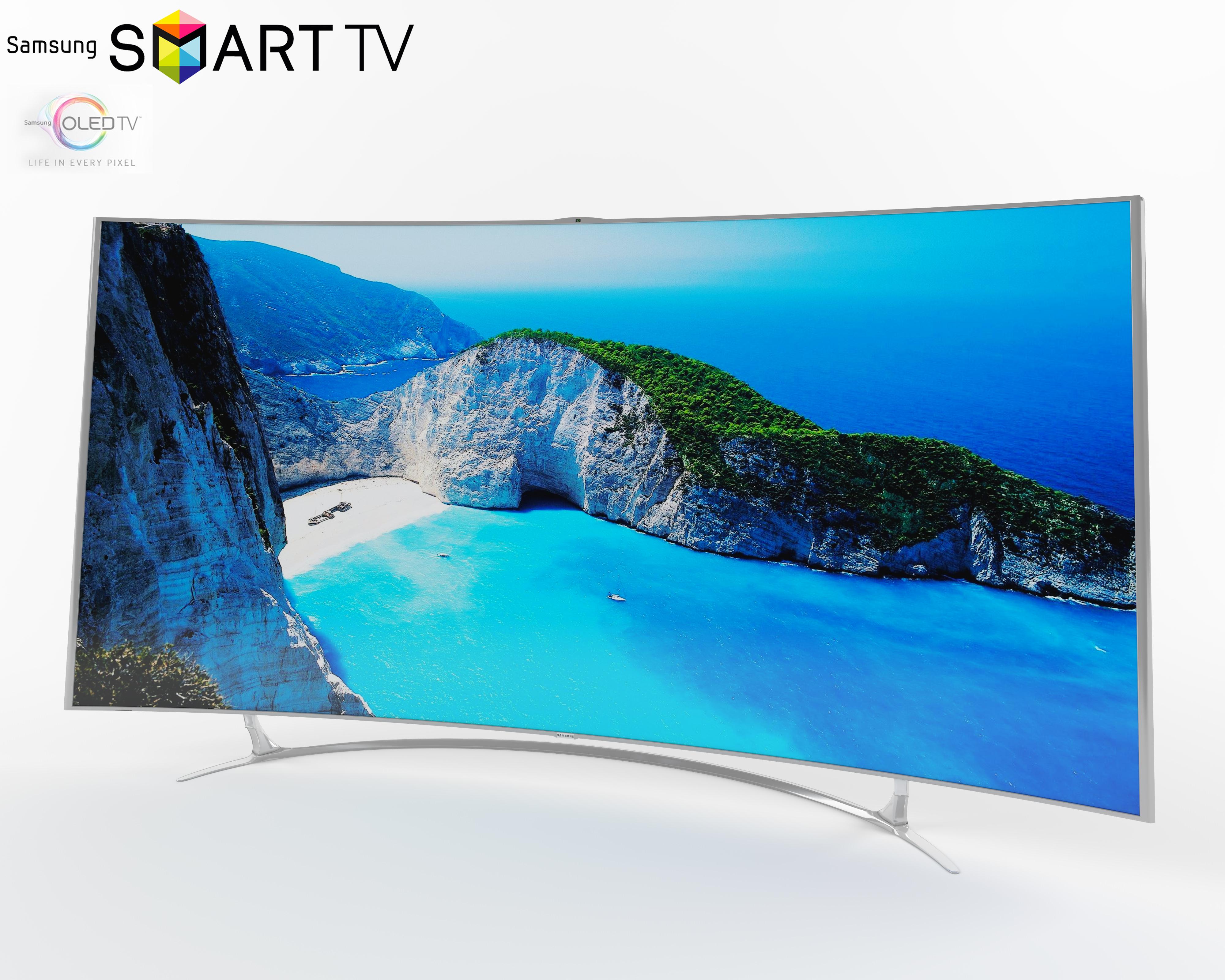 tv samsung oled curve 3d model max obj fbx. Black Bedroom Furniture Sets. Home Design Ideas