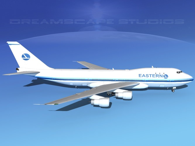 Boeing 747-100 Eastern Airlines 2 3D Model rigged .max ...