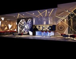 Bar with Classy Interior Decor 3D model