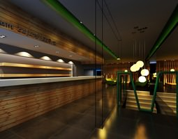 Exclusive Bar with Posh Interior 3D