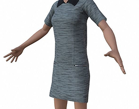 3D model FemaleDress