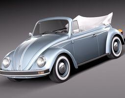 olkswagen Beetle 1980 Convertible 3D Model