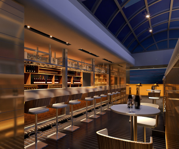 posh bar with high-end interior 3d model max 1