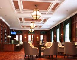 Authentic Bar Interior 3D Model