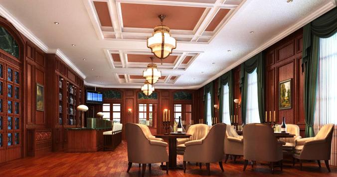 Authentic Bar Interior3D model