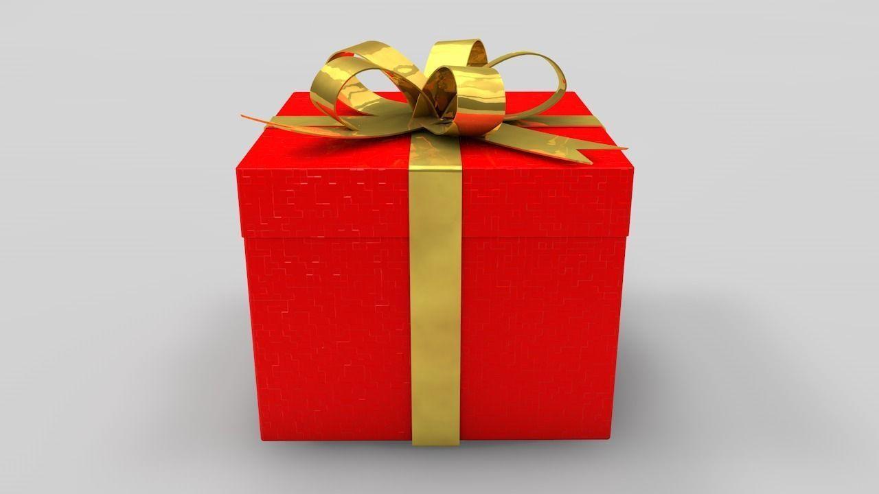 Christmas Gift Box.Gift Box 3d Model