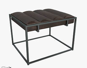 Fontanne Leather Ottoman by West Elm 3D