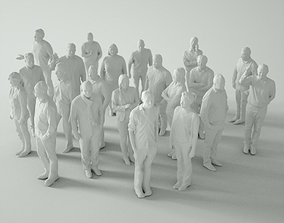 21 Low Poly People 3D model