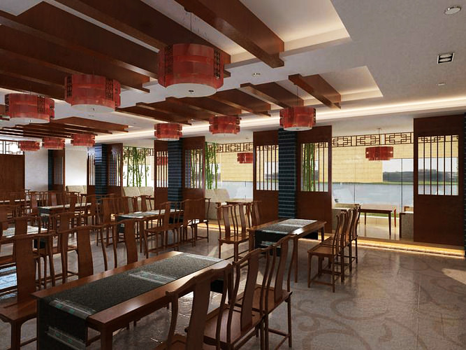 3d model restaurant with high end furniture cgtrader for Restaurant 3d max