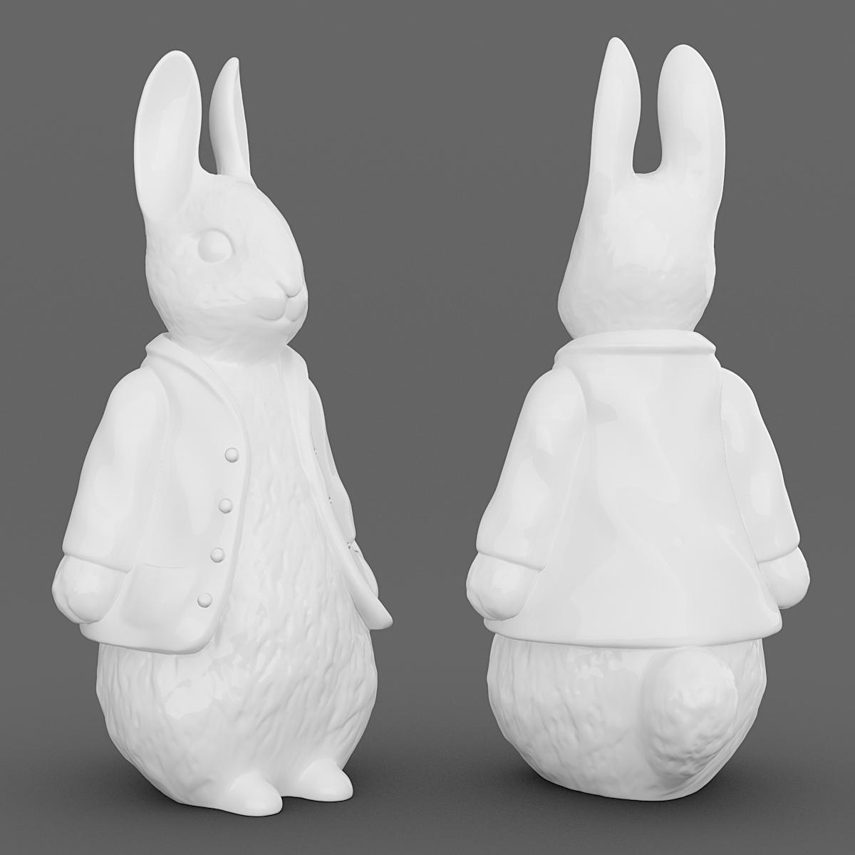 Easter Bunny free 3D Model 3D printable .obj CGTrader.com