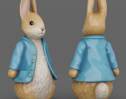 Easter Bunny Figurine 01 3D Model