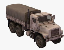 3D MTVR Army Truck