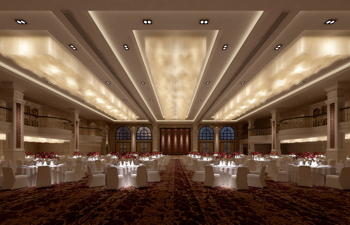 exotic restaurant with high-end carpet 3d model max