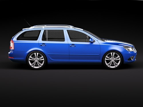 skoda octavia rs combi automobile 2010 3d model max 3ds 7