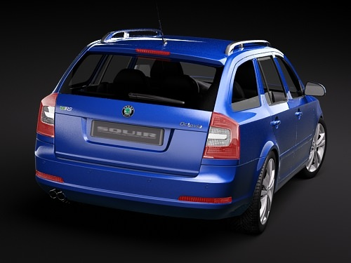 Skoda Octavia RS combi automobile 2010 3D Model .max .3ds