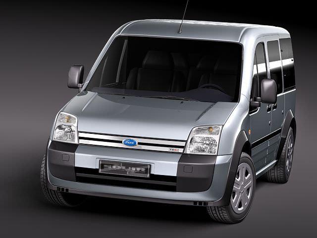 ford tourneo connect 2005 2010 minivan 3d model max 3ds. Black Bedroom Furniture Sets. Home Design Ideas