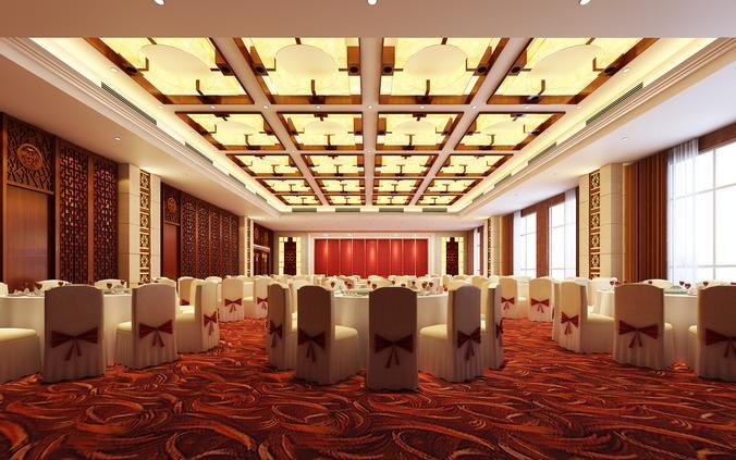 D model luxury restaurant interior cgtrader